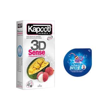کاندوم کاپوت مدل 3D SENSE بسته 12 عددی  به همراه کاندوم ناچ کدکس مدل بلیسر