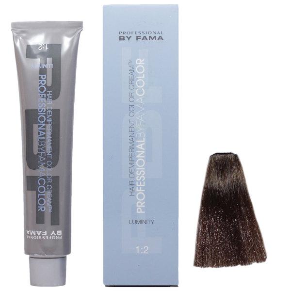 رنگ مو پروفشنال بای فاما سری لومینیتی شماره 6 حجم 80 میلی لیتر رنگ قهوه ای متوسط