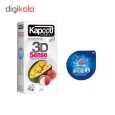 کاندوم کاپوت مدل 3D SENSE بسته 12 عددی  به همراه کاندوم ناچ کدکس مدل بلیسر thumb 1