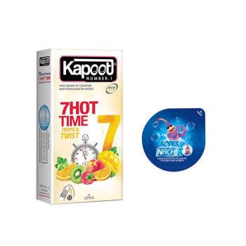 کاندوم کاپوت مدل 7HOT TIME بسته 12 عددی  به همراه کاندوم ناچ کدکس مدل بلیسر