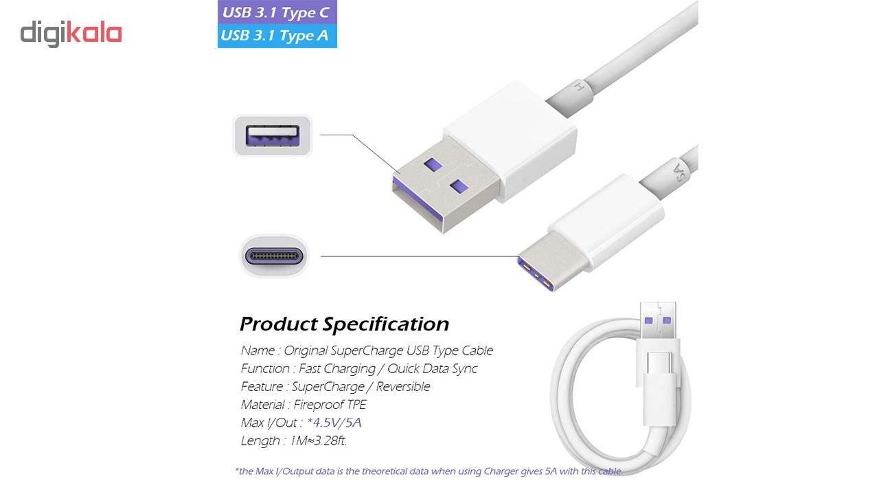 کابل تبدیل USB به USB-C مدل HL1289 سوپرشارژ طول 1 متر main 1 7