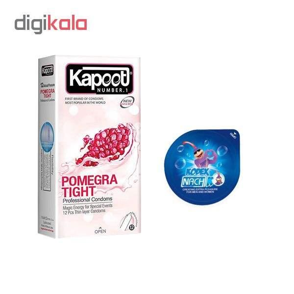 کاندوم کاپوت مدل POMEGRA TIGHT  بسته 12 عددی به همراه کاندوم ناچ کدکس مدل بلیسر main 1 1