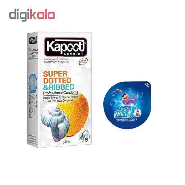 کاندوم کاپوت مدل SUPPER DOTTED بسته 12 عددی به همراه کاندوم ناچ کدکس مدل بلیسر main 1 1