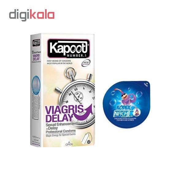 کاندوم کاپوت مدل VIAGRIS DELAY بسته 12 عددی به همراه کاندوم ناچ کدکس مدل بلیسر main 1 1
