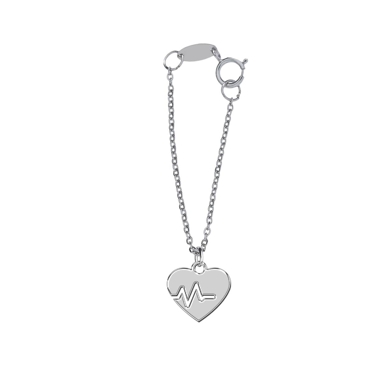 آویز ساعت نقره ترمه1 طرح قلب کد E354