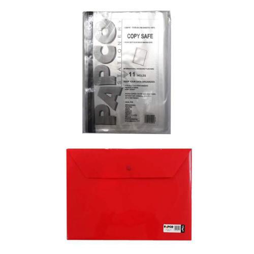 کاور کاغذ پاپکو سایز A4 به همراه پوشه دکمه دار پاپکو کد 344