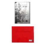 کاور کاغذ پاپکو سایز A4 به همراه پوشه دکمه دار پاپکو کد 344 thumb