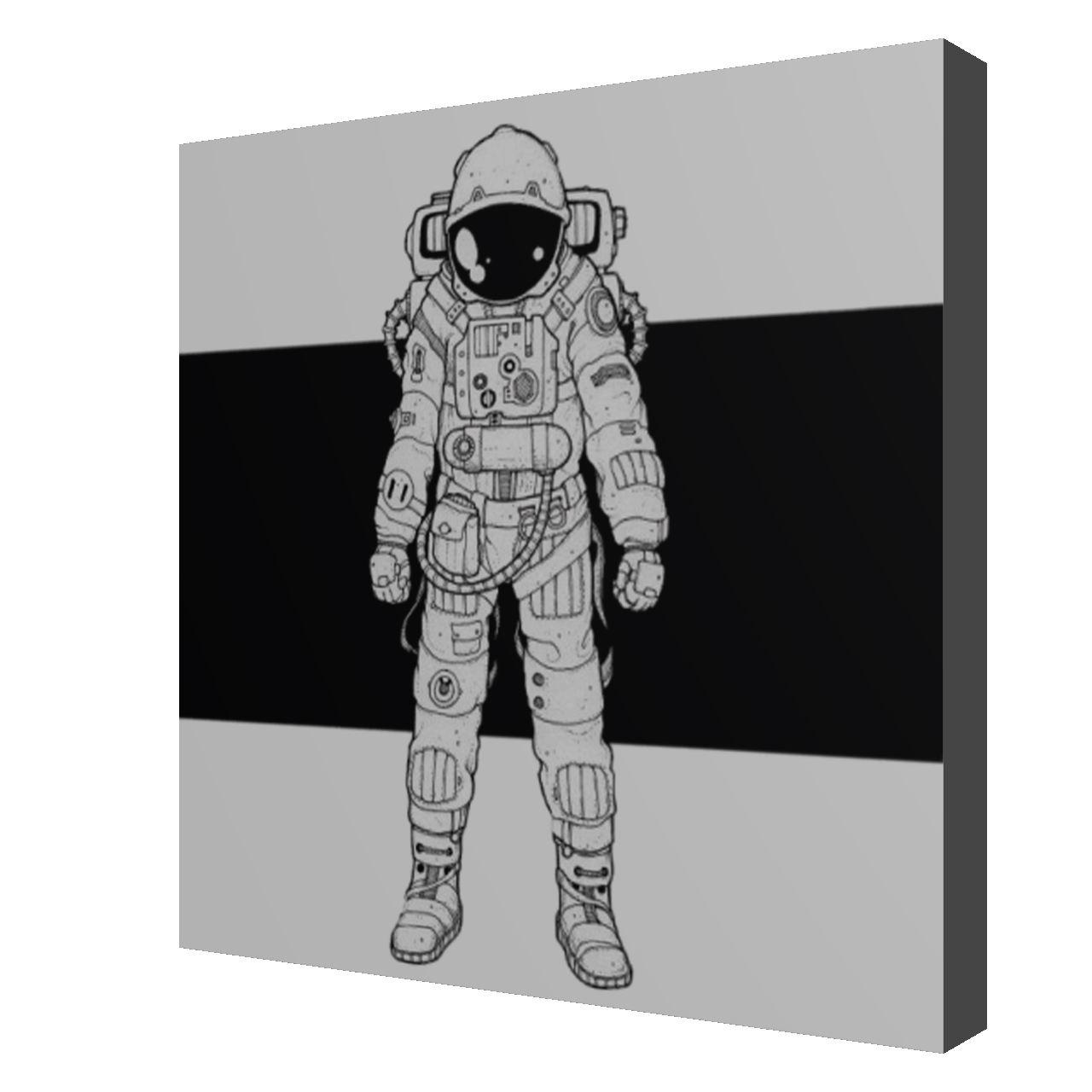 پیکسل طرح فضانورد کد 11 -  - 1