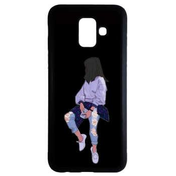 کاور طرح دخترانه کد 6684 مناسب برای گوشی موبایل سامسونگ galaxy a8 2018