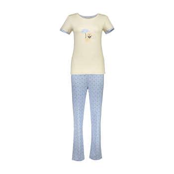 ست تی شرت و شلوار راحتی زنانه ناربن مدل 1521142-07 | Narbon 1521142-07 T-shirt And Pants Set For Women