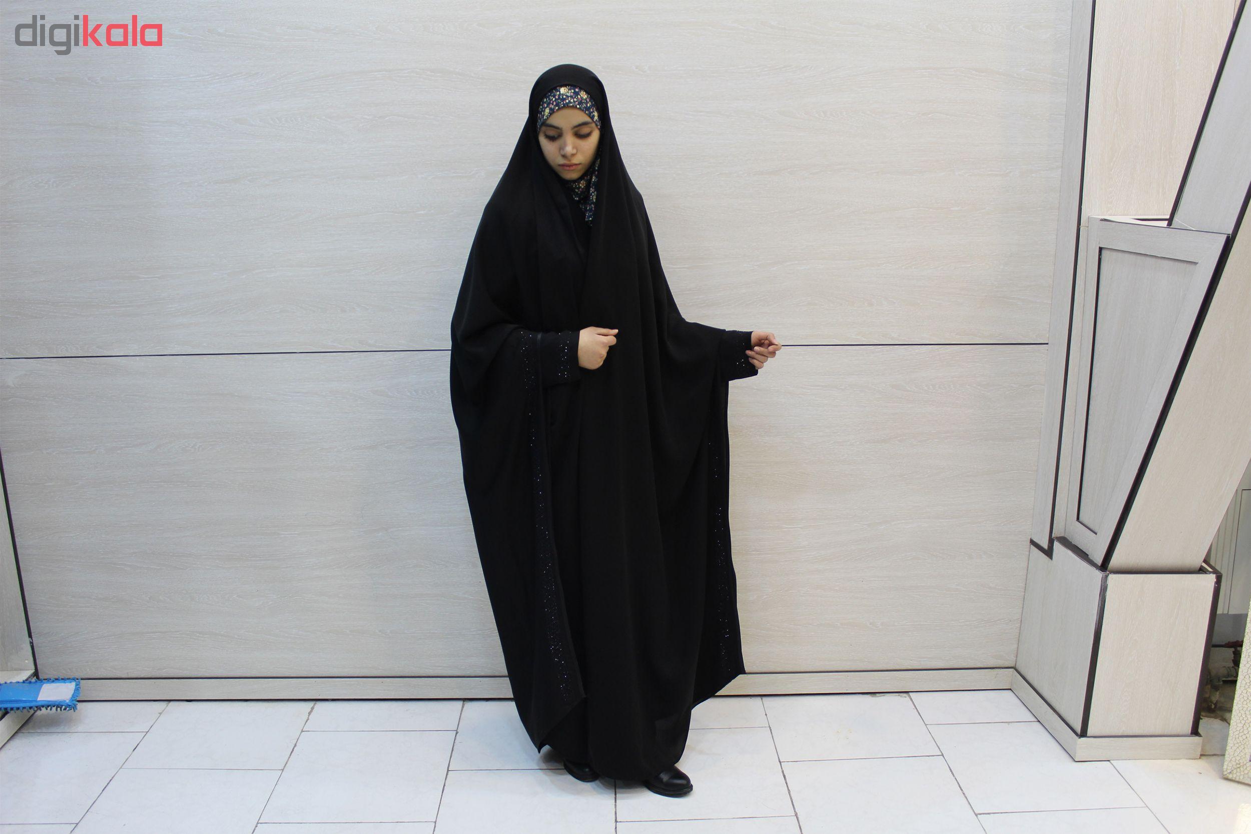 چادر دانشجویی مچ دار مروارید کن کن عروس حجاب حدیث کد 143