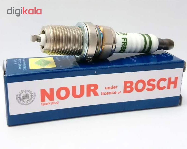 شمع خودرو نور مدل FR8DE مناسب برای خودروهای دوگانه سوز بسته 4 عددی main 1 1