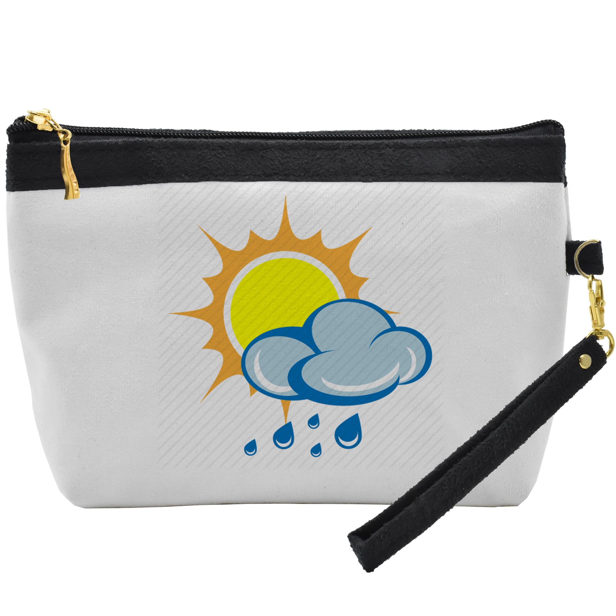 قیمت کیف لوازم آرایشی طرح خورشید و ابر کد C28