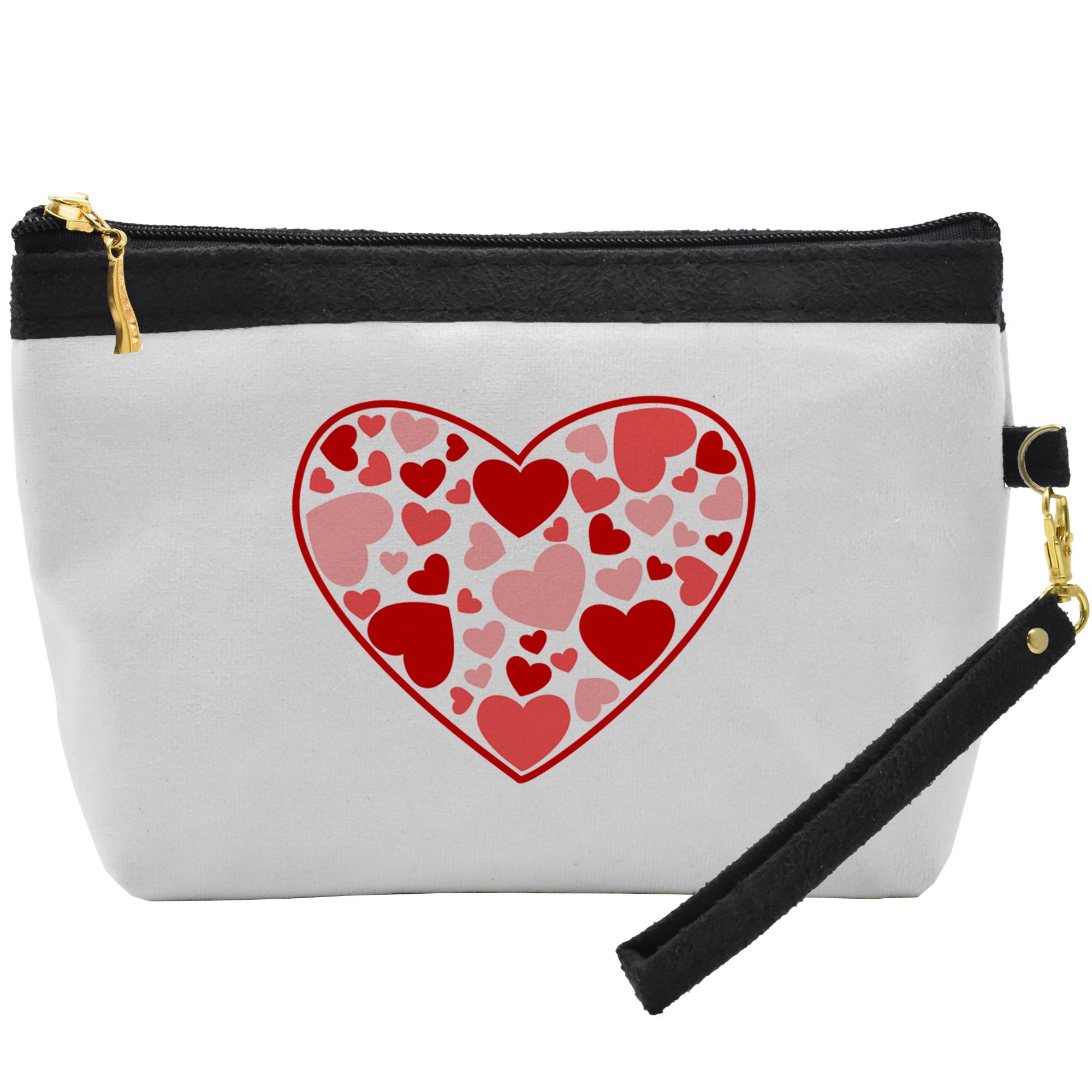 کیف لوازم آرایشی طرح قلب کد C29