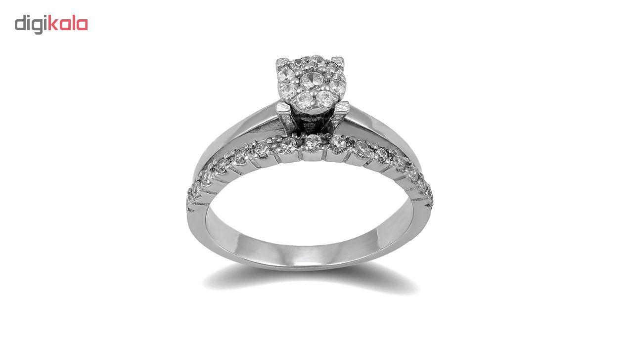 انگشتر طلا 18 عیار جواهری سون مدل 2248