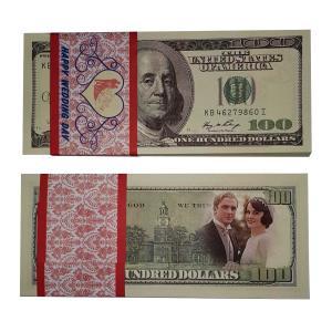 عکس اسکناس طرح دلار بسته 100 عددی