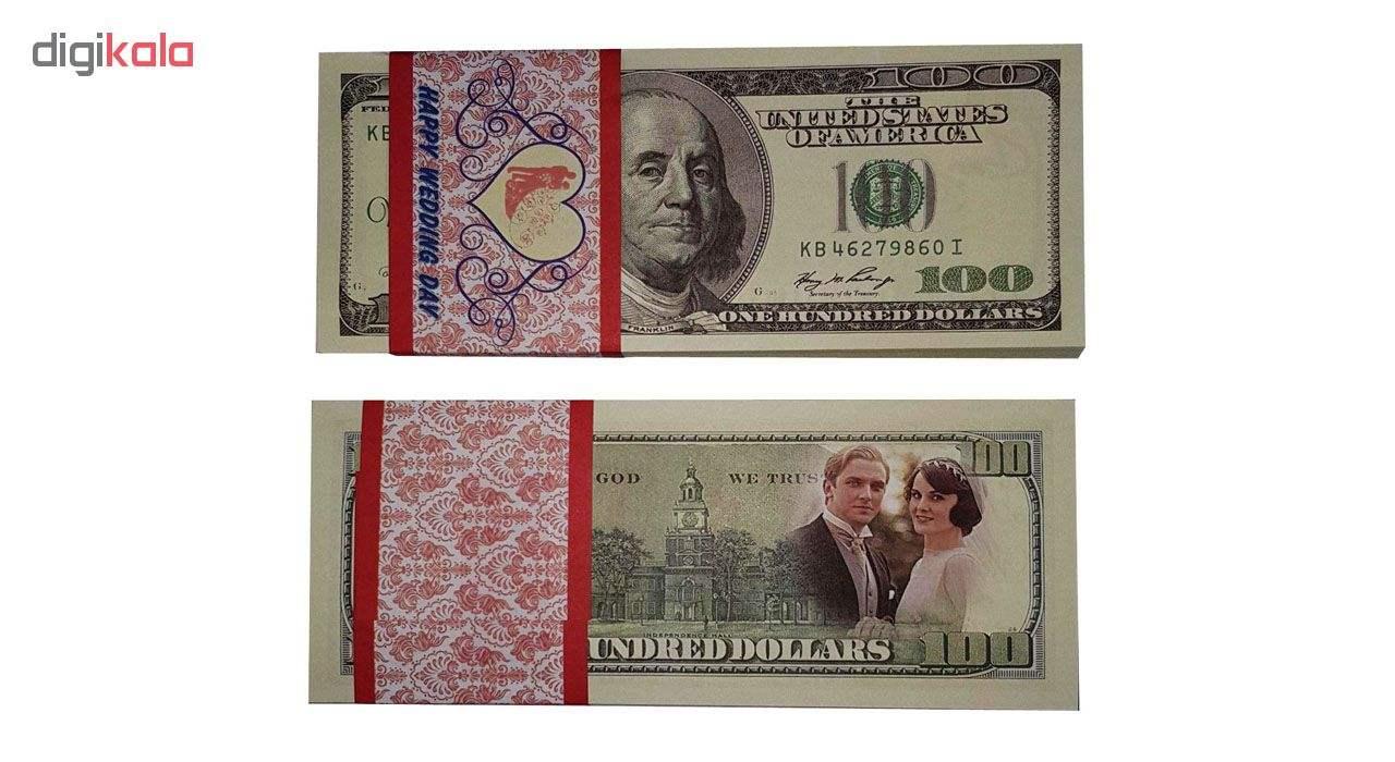 اسکناس طرح دلار بسته 100 عددی