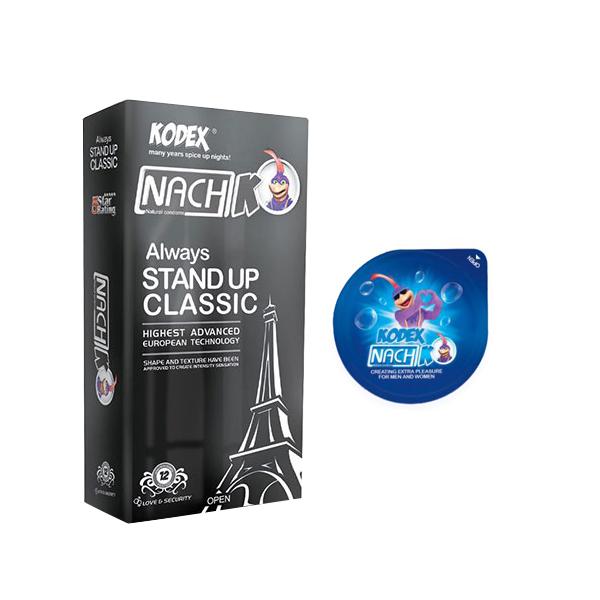 خرید                      کاندوم ناچ کدکس مدل STAND UP بسته 12 عددی به همراه کاندوم مدل بلیسر