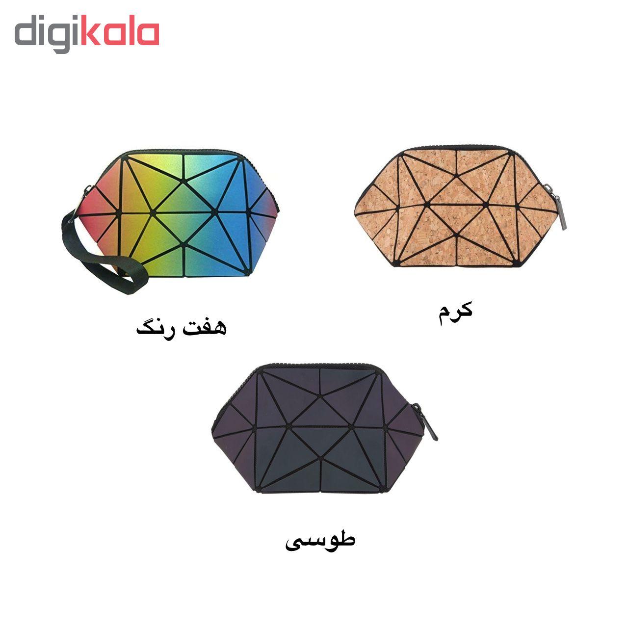 کیف لوازم آرایشی طرح الماس کد 01