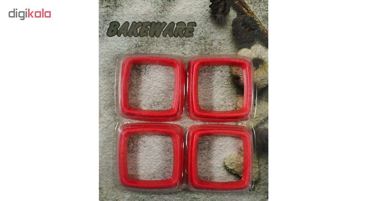 قالب شیرینی بک ویر مدل Cube بسته 4 عددی main 1 5