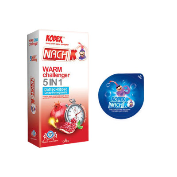 کاندوم ناچ کدکس مدل WARM CHALLENGER بسته 12 عددی به همراه کاندوم مدل بلیسر