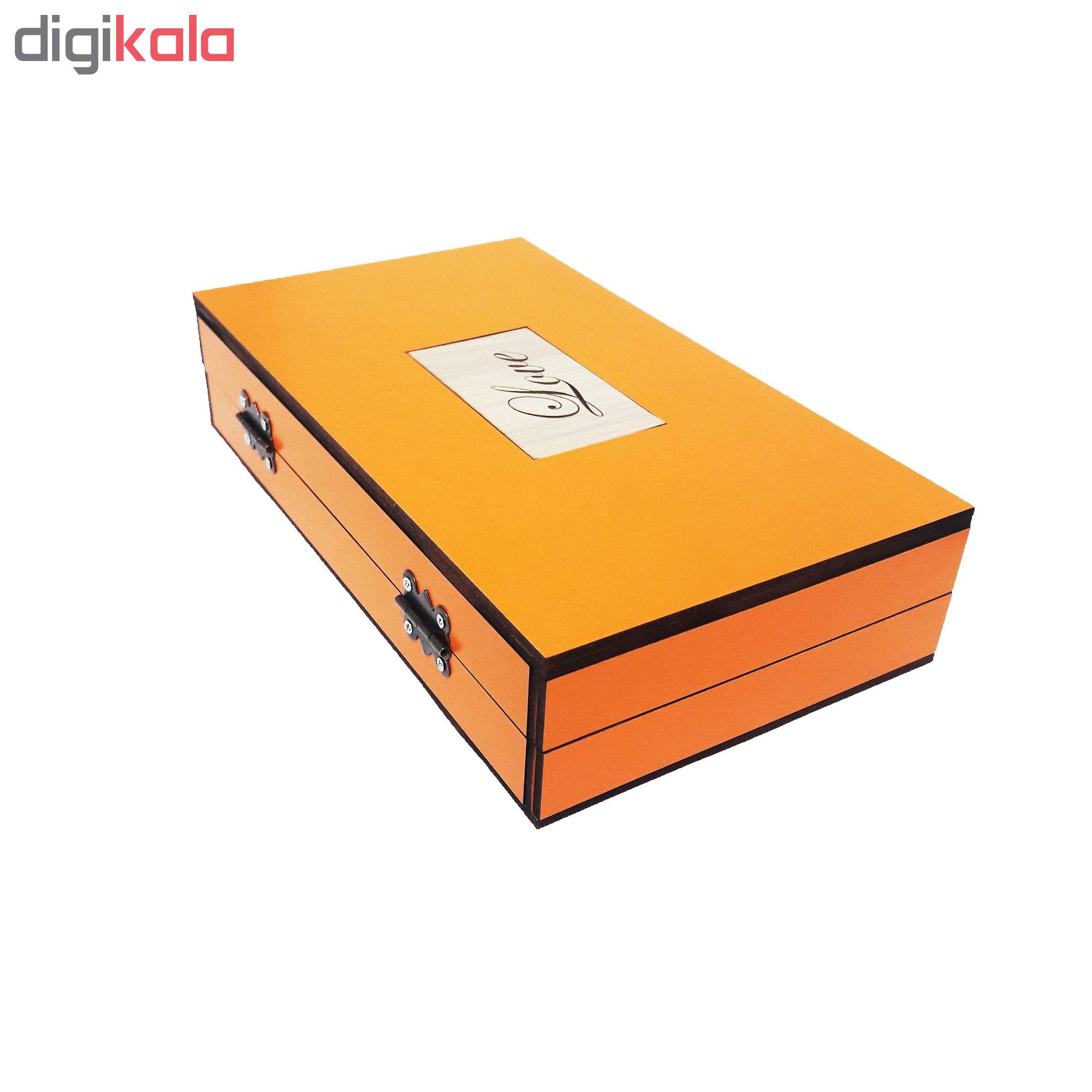 خرید                      جعبه هدیه چوبی مدل 14
