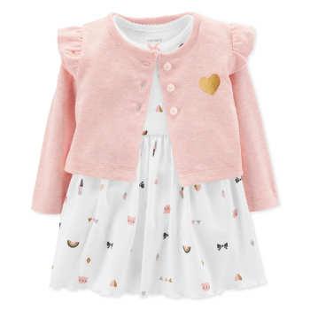 ست 2 تکه لباس نوزادی دخترانه کارترز مدل 855 |