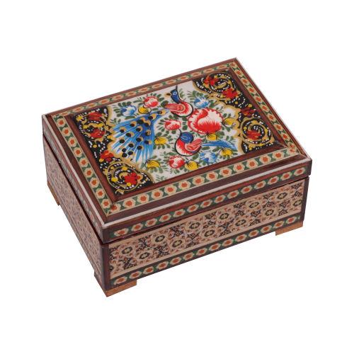 جعبه جواهرات خاتم کاری گالری گوهران مدل 514