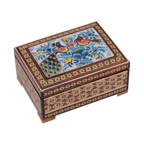جعبه جواهرات خاتم کاری گالری گوهران مدل 519