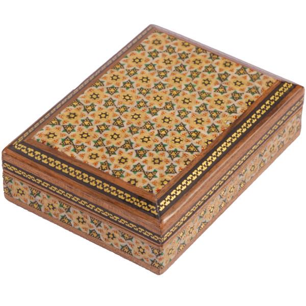 جعبه جواهرات خاتم کاری گالری گوهران مدل  اسلیمی کد523
