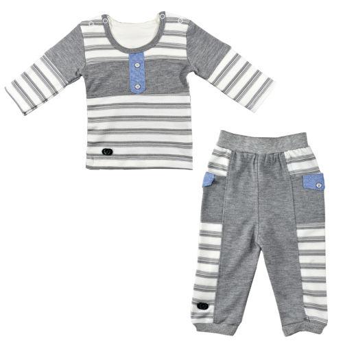 ست 2 تکه لباس نوزادی نیروان طرح 220 کد 1