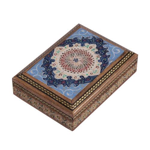 جعبه جواهرات خاتم کاری گالری گوهران مدل اسلیمی کد 529