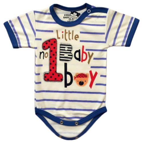 زیر دکمه دار آستین کوتاه نوزادی زیرک بیبی طرح little baby