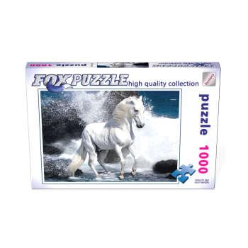 پازل 1000 تکه فاکس پازل طرح اسب  سفید کد 62490