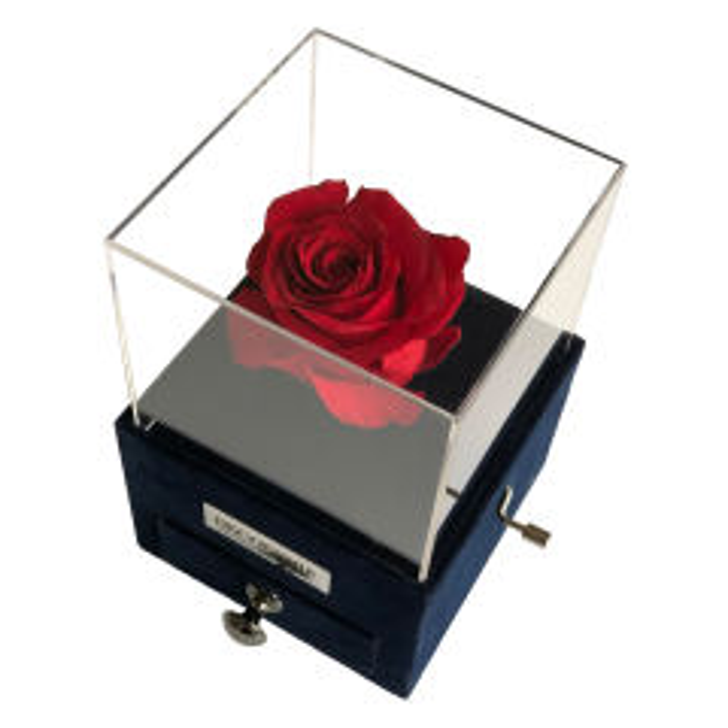 جعبه موزیکال کشودار رز جاودان دکوفیوره ملودی HappyBirthday - به همراه کارت تولد و  پاکت مخصوص دکوفیوره