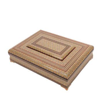 جعبه قرآن خاتم کاری گالری گوهران مدل اصیل 311