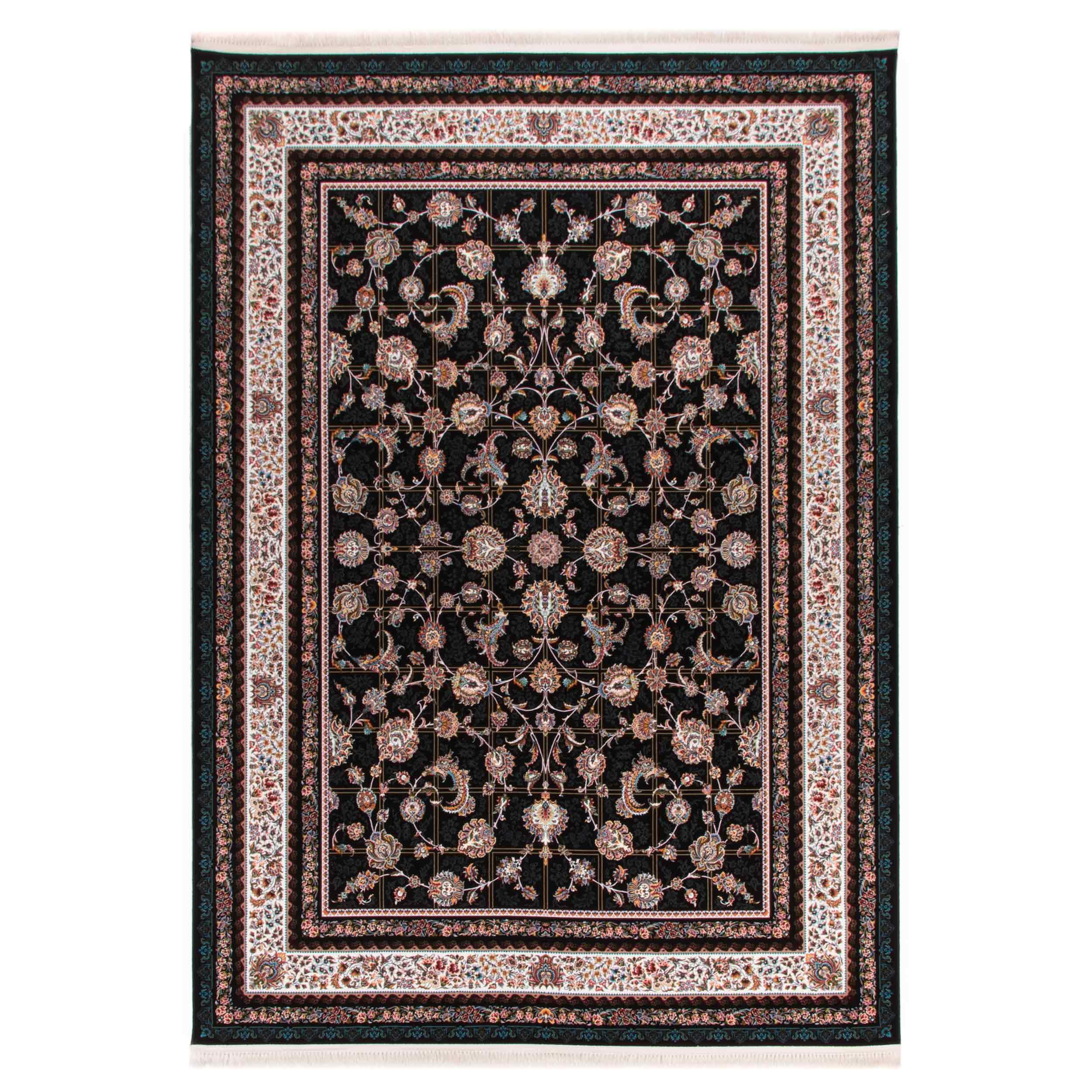 فرش  ماشینی دنیای فرش طرح 13 زمینه سورمه ای