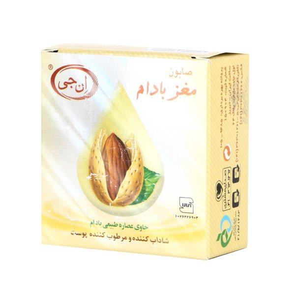 صابون شستشو ان جی مدل Almond وزن 50 گرم مجموعه 2 عددی