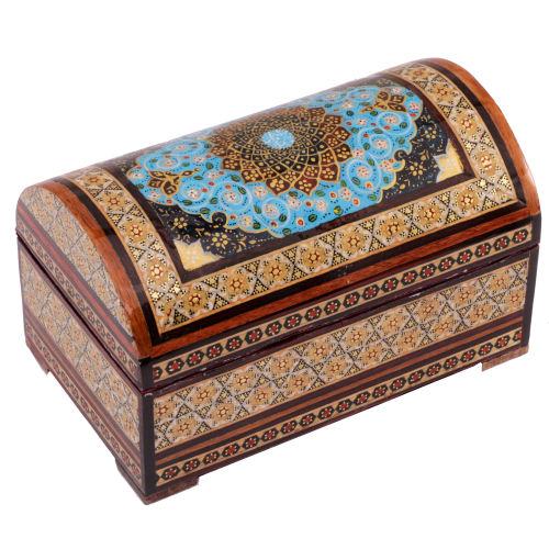 جعبه جواهرات خاتم کاری گالری گوهران مدل 618
