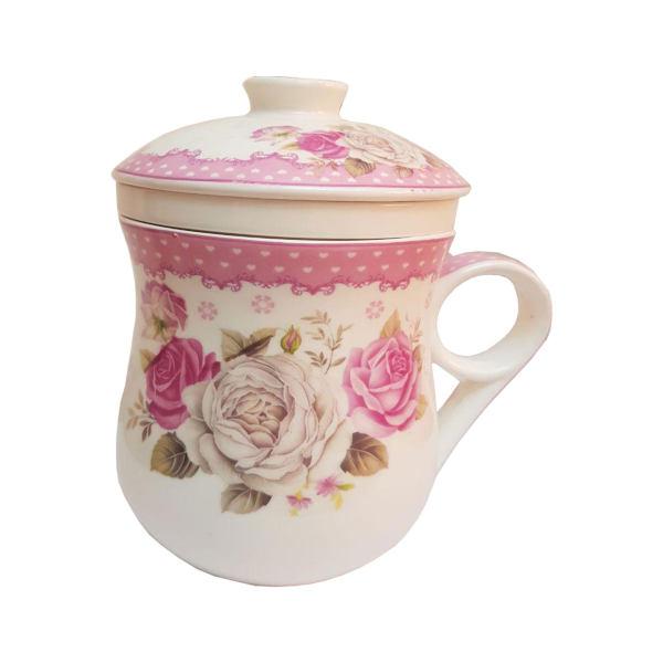 لیوان دمنوش ساز بانومد مدل flower-pink