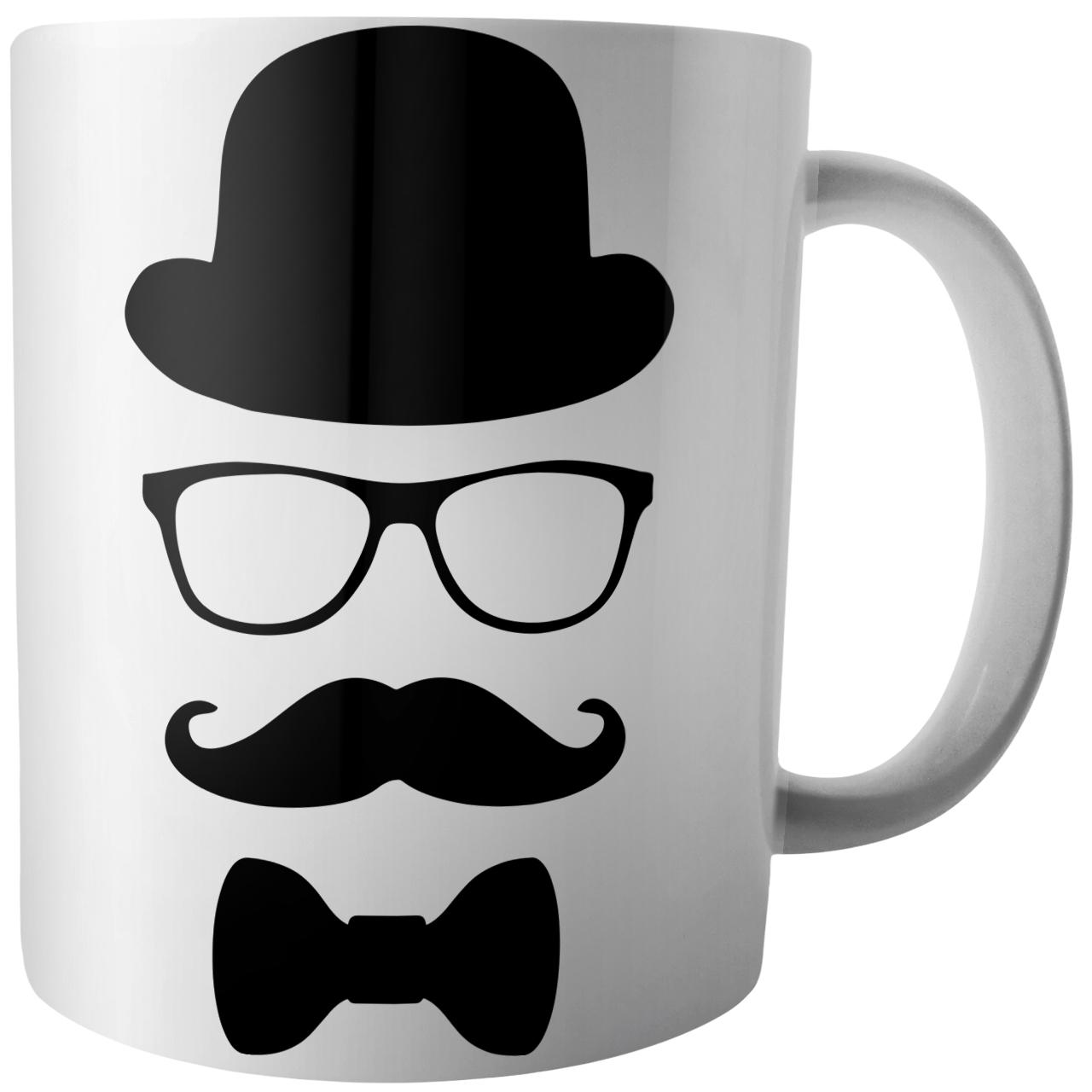 عکس ماگ آکو طرح عینک و سیبیل کد B304