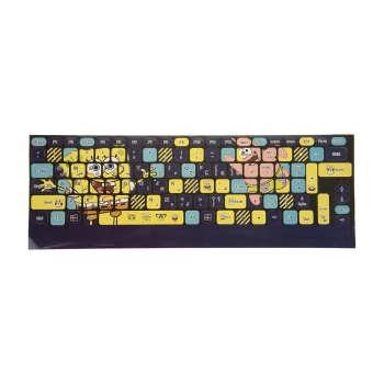 برچسب کیبورد طرح باب اسفنجی کد 17 با حروف فارسی
