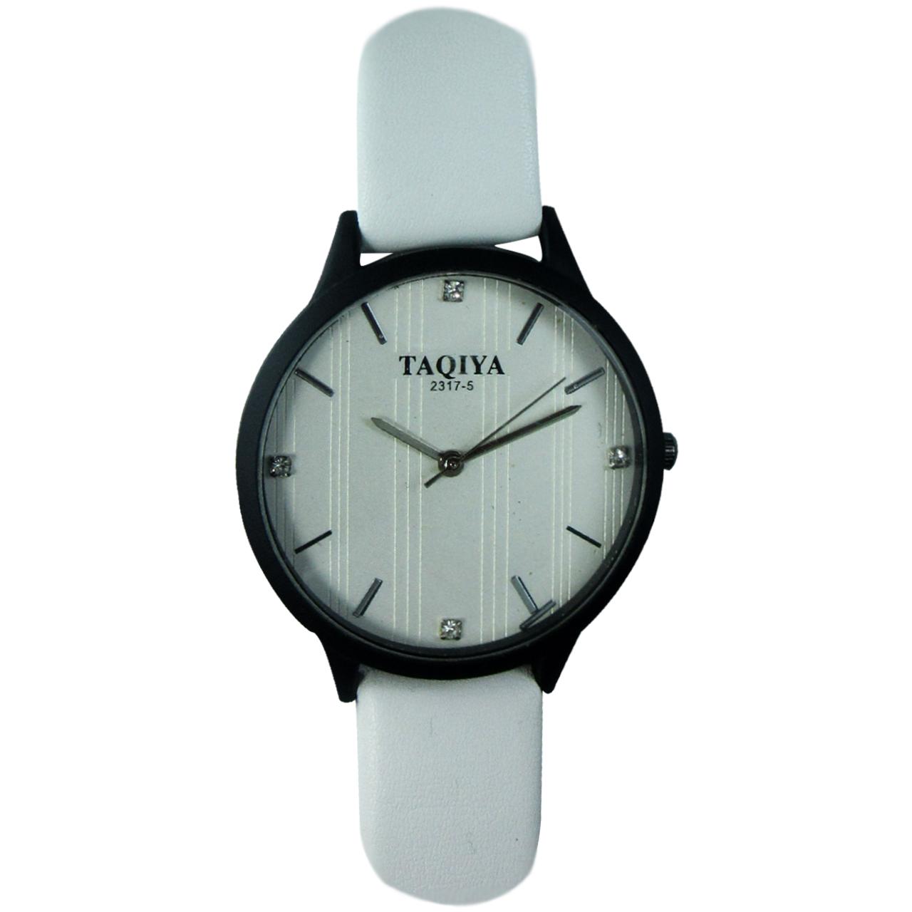 ساعت مچی عقربه ای تاکیا مدل BWP رنگ سفید