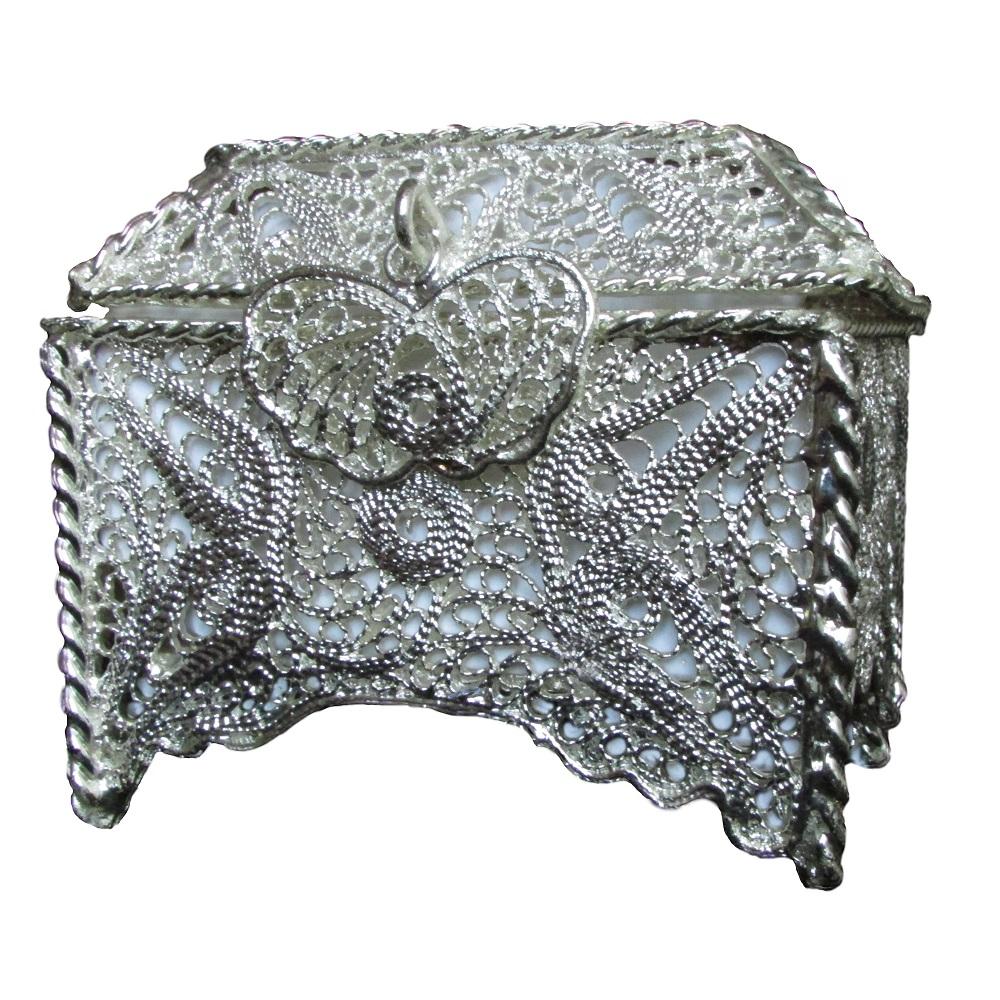 جعبه جواهرات ملیله نقره کد 13