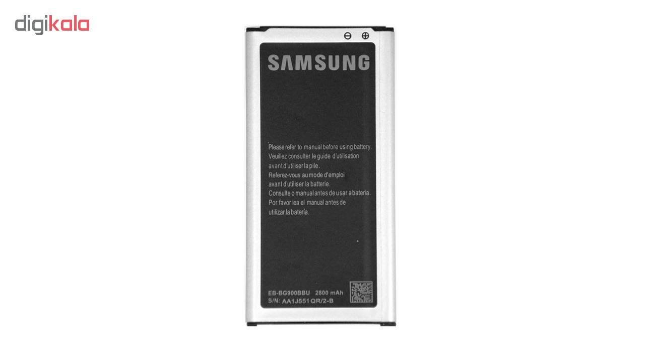 باتری موبایل مدل EB-BG900BBU با ظرفیت 2800 میلی آمپر ساعت مناسب برای گوشی موبایل سامسونگ Galaxy S5 main 1 1