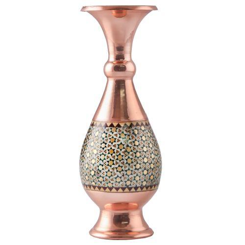 گلدان خاتم کاری خاتم کوروش_کروبی طرح فیروزه کد 141255