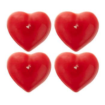شمع طرح قلب مدل 1010 بسته 4 عددی