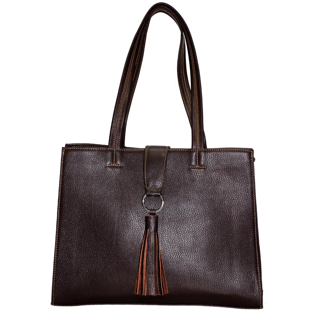کیف دستی چرم طبیعی فلوتر زنانه مدل DZ37.1