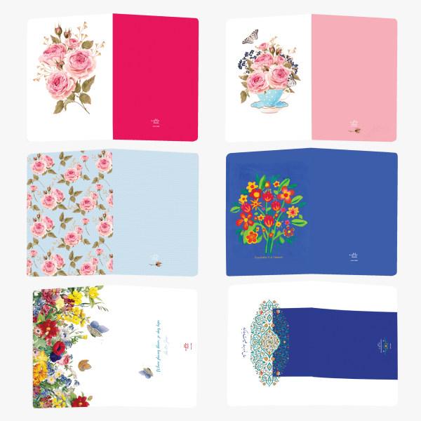 کارت تبریک ستوده طرح گلها کد CFC20 بسته 6 عددی