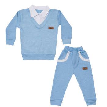 ست 2 تکه لباس نوزادی پسرانه ساج کیدز طرح باربد کد 04 |